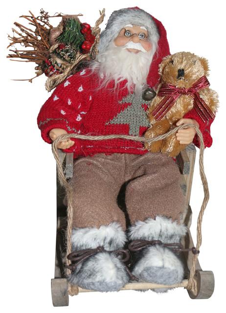 "7.8"" Santa In Sleigh."