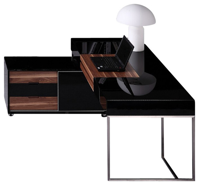 shop houzz vig furniture inc ezra contemporary office desk desks