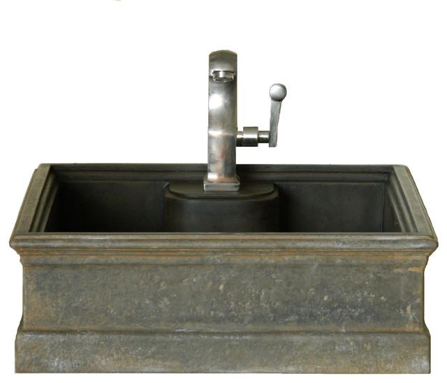 Cast Iron Style Concrete Vessel Sink Rustic Bathroom