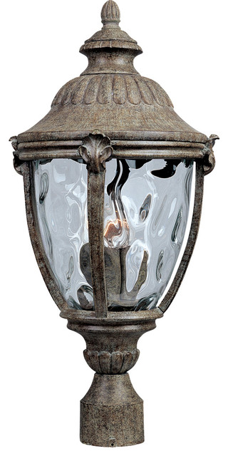 Morrow Bay Vx 3-Light Post Lights And Accessories, Earth Tone.
