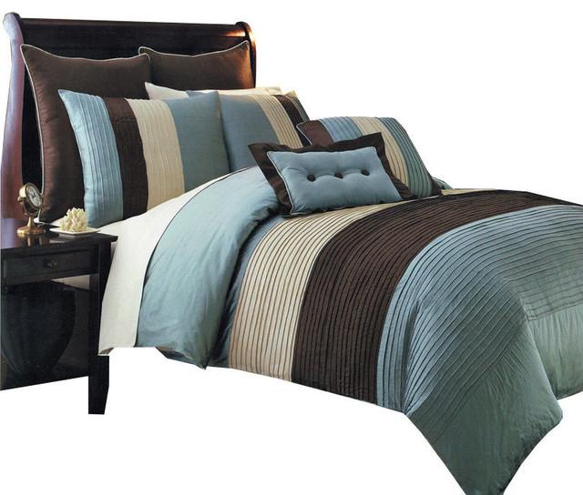 Hudson 100 Microfiber 8 Piece Bed Set Contemporary