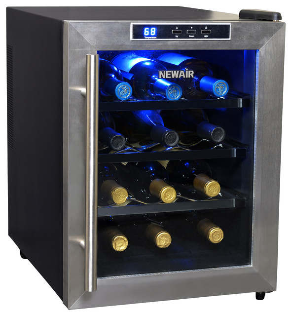 Newair Thermoelectric Wine Cooler, 12 Wine Bottles.