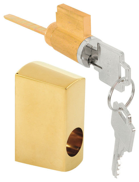 Prime Line E 2680 Sliding Door Keyed Locking Unit Brass  : transitional door locks from www.houzz.com size 488 x 640 jpeg 49kB