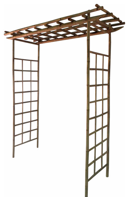 "Bamboo North Arbor, Handcrafted With Crack Resistent Solid Bamboo, 84""h X 60""w."