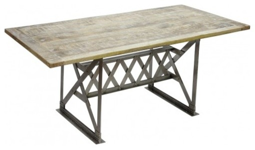 Industrial Dining Table w Nickel Finish : industrial dining tables from www.houzz.com.au size 509 x 300 jpeg 26kB
