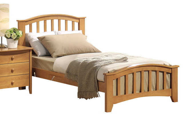 San Marino Mission Bed, Maple, Twin.