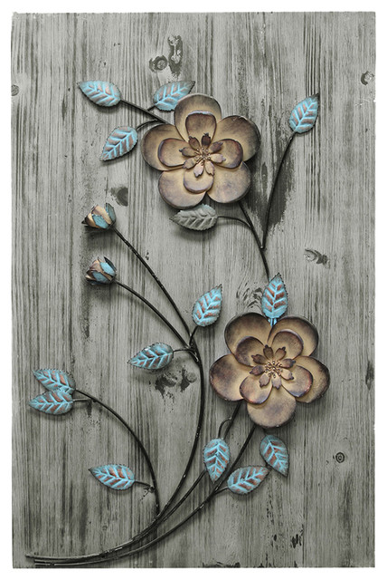 Stratton Home Decor Rustic Floral Panel Ii.