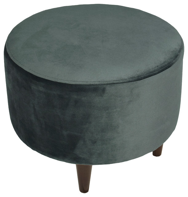 Awesome Sophia Fabric Ottoman With Round Espresso Finished Legs Ibusinesslaw Wood Chair Design Ideas Ibusinesslaworg