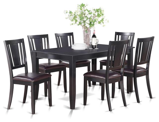 dule blk kitchen table set transitional dining sets by dinette4less. Black Bedroom Furniture Sets. Home Design Ideas