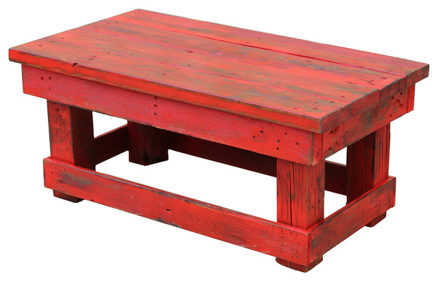 Joyce Reclaimed Coffee Table, Red   Coffee Tables