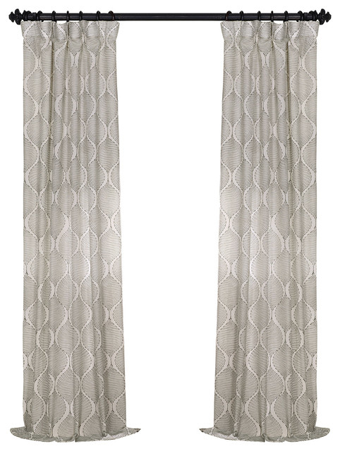 "Dreamweaver Taupe Embroidered FauxLinen, 50""x108"""