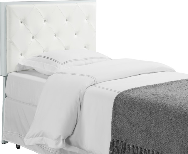 Metal Tufted Design Upholstered Headboard Black Full
