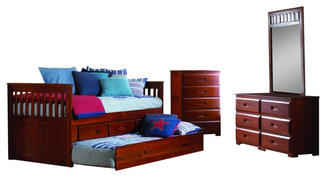 Captains Bed With Storage And Trundle
