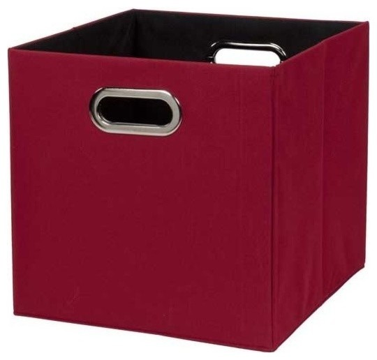 Storage Cube, Fabric, Brown.