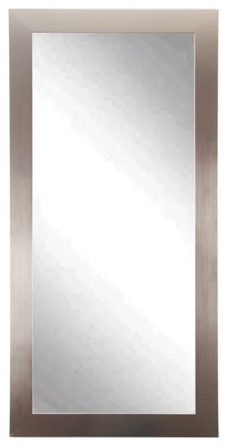 Silver Full Body Floor Mirror Modern Floor Mirrors
