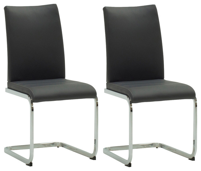 Leatherette Mobo Dining Chair Set Of 2 Modern Dining