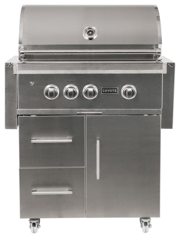 """Coyote S-Series 30"""" 2-Burner Grill on Cart With Rapidsear ..."""