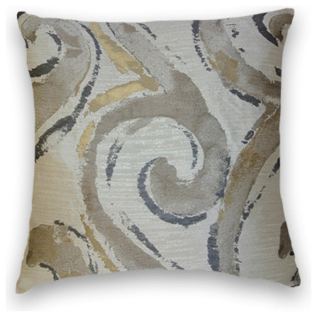 gray beige gold abstract throw 18x18 pillow cover with insert traditional decorative pillows - Gold Decorative Pillows