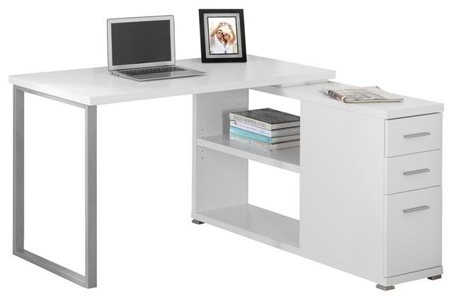 Computer Desk, White Left Or Right Facing Corner.