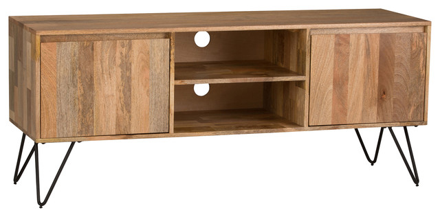 Hunter TV Media Stand, Natural - Industrial - Entertainment Centers And Tv Stands - by Simpli ...