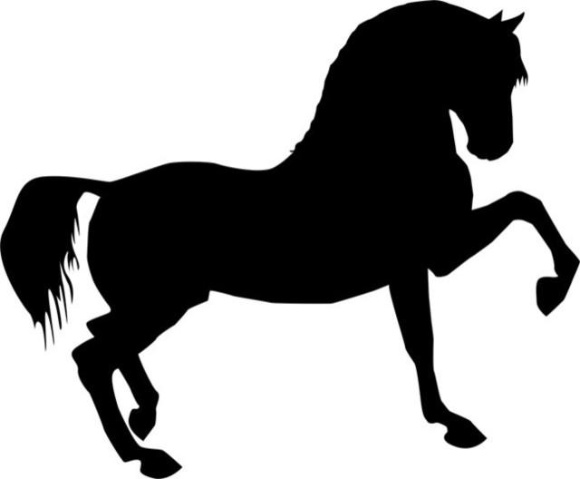 Prancing horse stencil farmhouse wall stencils by stencil ease