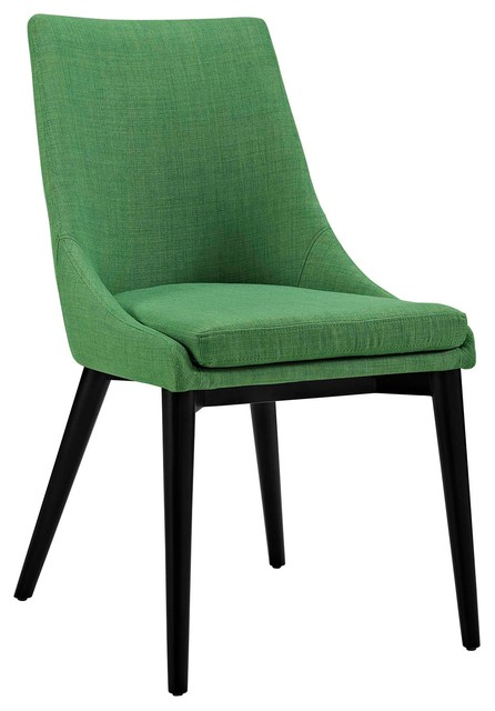 Pleasing Viscount Upholstered Fabric Dining Side Chair Kelly Green Ibusinesslaw Wood Chair Design Ideas Ibusinesslaworg