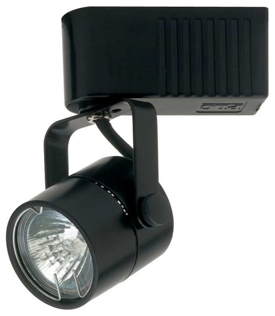 black track lighting. plc lighting slick12v track 1 light in black contemporarytrack i