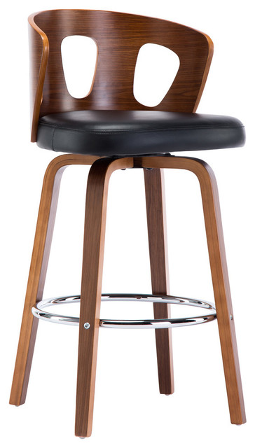 Phenomenal Mid Century Modern Swivel Barstool 26 Seat Height Squirreltailoven Fun Painted Chair Ideas Images Squirreltailovenorg