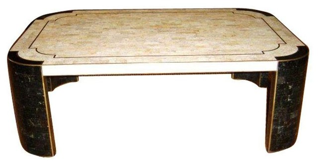 Maitland Smith Tessellated Stone Coffee Table Contemporary