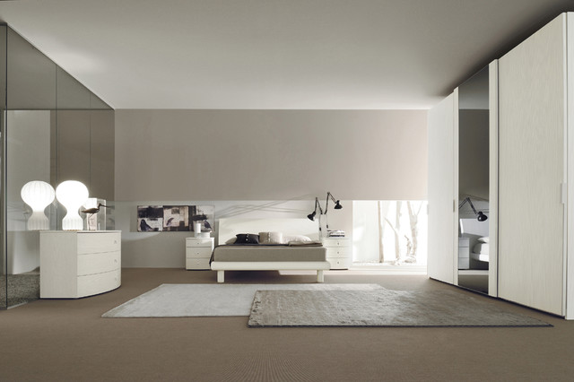 made in italy wood modern bedroom sets with extra storage