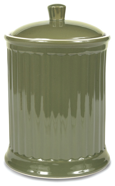 Simsbury Extra Large Canister Citron Contemporary Kitchen Canisters And Jars By Omniware