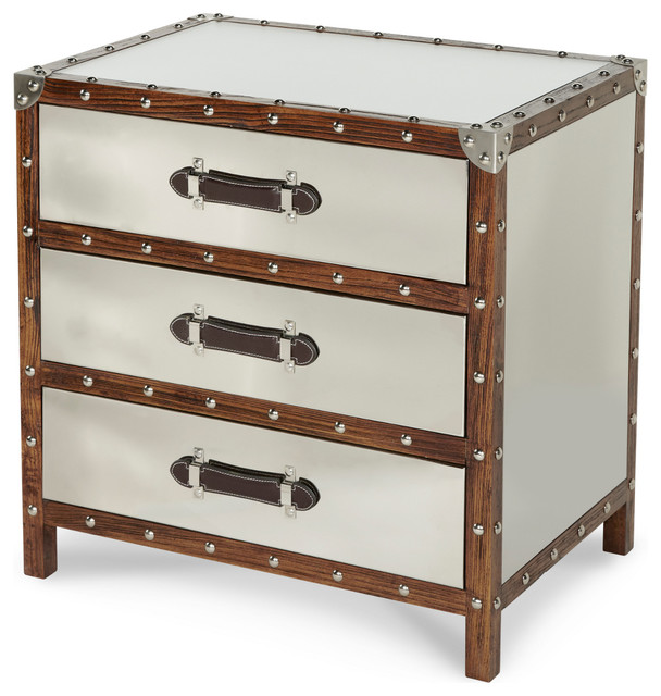 AICO Michael Amini Discoveries Trunk 3-Drawer Chest