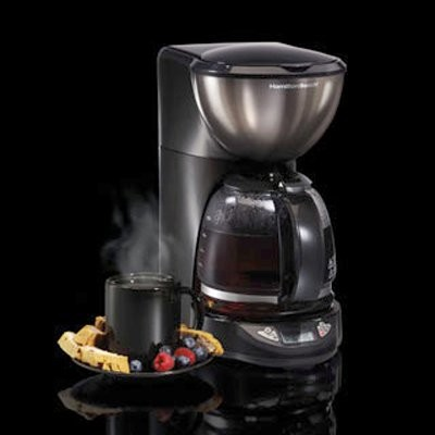 Hamilton Beach 49757 Black Ice Metal Collection 12 Cup Coffee Maker Modern  Coffee And