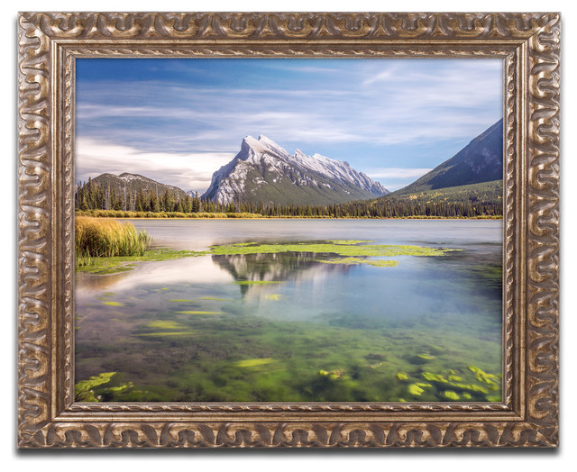 Pierre Leclerc &x27;mount Rundle Banff&x27; Ornate Framed Art, 20x16.