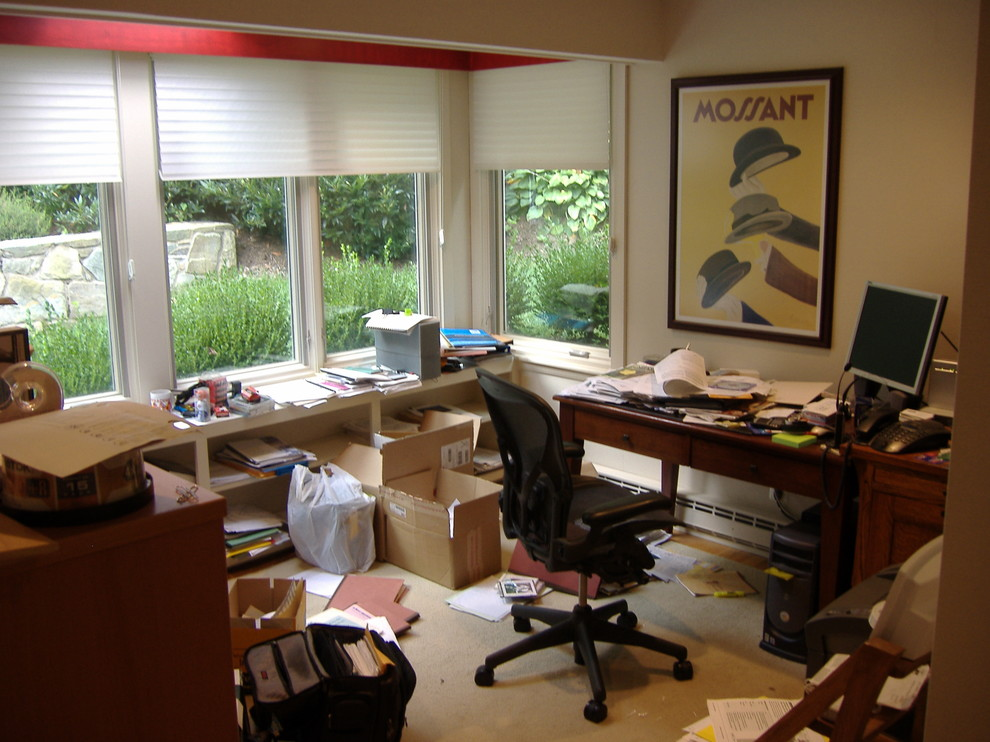 Arlington Home Office Remodel: Before