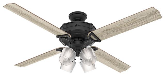 Hunter Wifi 60 Brunswick, 4 Lights Natural Iron Ceiling Fan, Light & Remote.