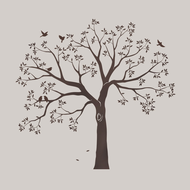 staircase family tree wall decal - contemporary - wall decals -