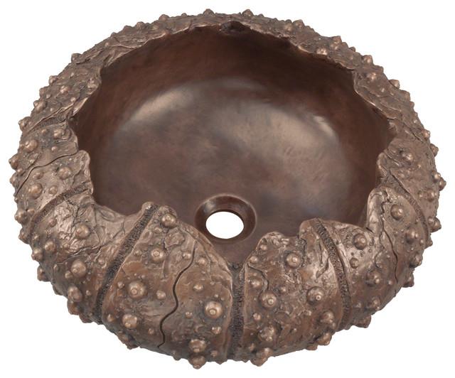 Bronze Vessel Sink, No Additional Accessories.