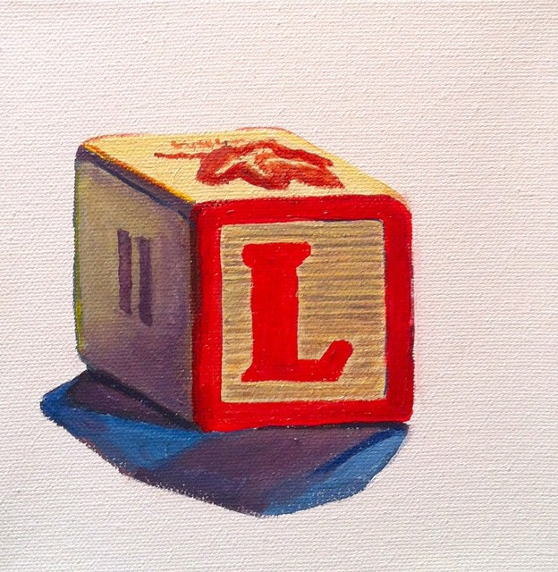classic wooden letter block artwork
