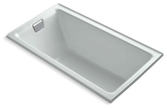 "Kohler Tea-For-2 66""x36"" Alcove Bath With Left-Hand Drain, Ice Gray"