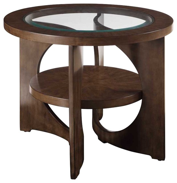 Bassett Mirror Thoroughly Modern Alford Round End Table