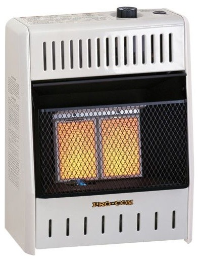 Procom Ml1phg Two Plaque Ventless Infrared Wall Heater, Liquid Propane.