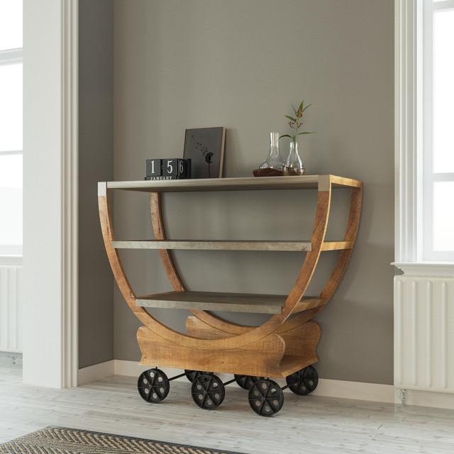 Mango Wood Cart.