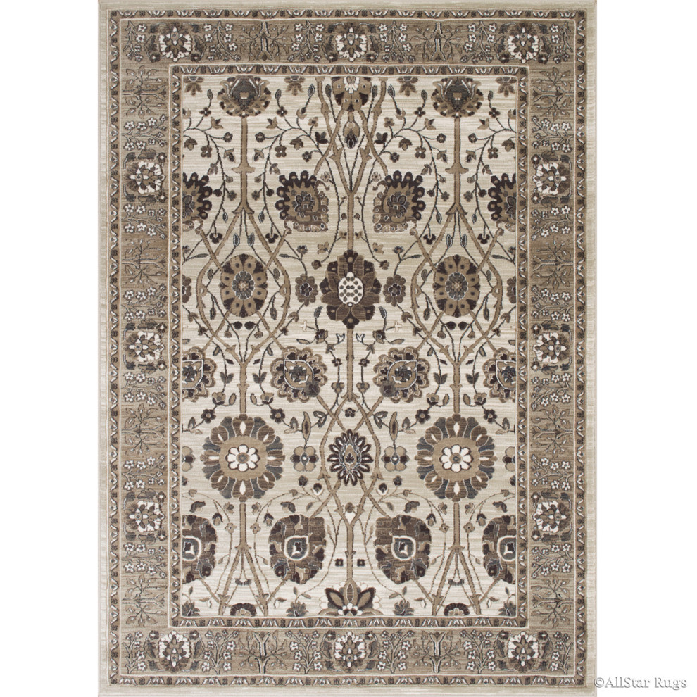 Modern Accent Rug In Beige With