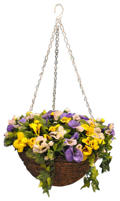 Smart Garden Pansy Artificial 30 cm Hanging Basket by