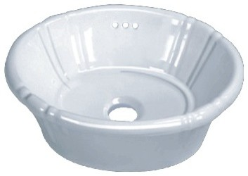porcelain ceramic vanity drop in bathroom vessel sink 17 15253