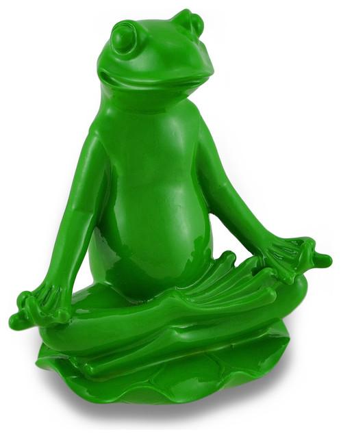 Zeckos Green Yoga Frog Ardha Padmasana Meditation Pose View In Your