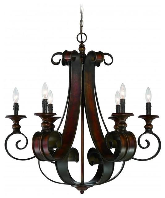 Spanish tuscan casual seville 6 light chandelier mediterranean spanish tuscan casual seville 6 light chandelier spanish bronze mediterranean chandeliers aloadofball Images