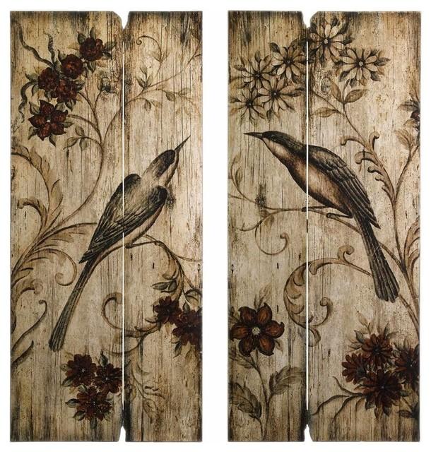 Norida 2 Piece Bird Wall Panel Set