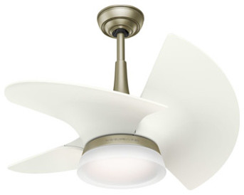 Orchid 1-Light Indoor Ceiling Fans, Pewter Revival.
